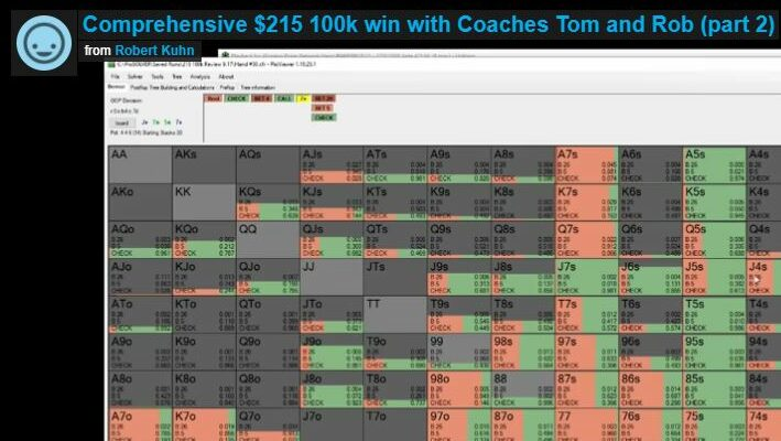 Comprehensive $215 100k win with Coaches Tom and Rob (part 2)